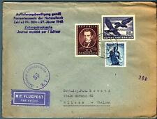 AUSTRIA - 1952 - Aer. per Milano affrancato per 1 s. con francobolli del periodo