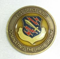 RARE 21St Space Wing Dominating The High Ground Strength Prepared Challenge Coin