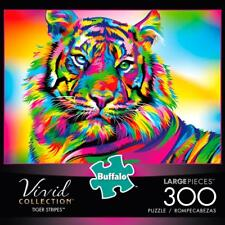 BUFFALO GAMES VIVID JIGSAW PUZZLE TIGER STRIPES 300 PCS #2728