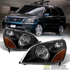 For Blk 2003-2005 Honda Pilot Replacement Headlights Headlamps 03-05 Left+Right