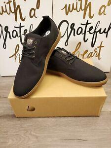 New Clae Ellington Shoes Textile Black Canvas Darm Rum 12 U.S. men's Sneakers