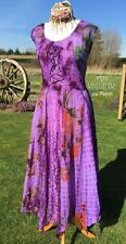 ENCHANTING NEW PURPLE FAIRY DRESS UK SIZE 14 BOHEMIAN HIPPIE SKIRT TOP GYPSY