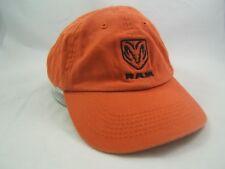 Dodge Ram Dealership Hat Orange Strapback Baseball Cap