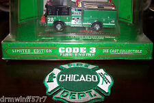"""Code 3 - Chicago  Engine - 28  """"St. Patrick's Day"""" + free fire patch"""