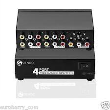 3RCA AV Audio Video Verteiler Splitter AV Adapter Cinch HDTV Box 4 in 1 Ausgang