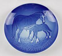 "Copenhagen-B&G Bing & Grondahl-1972 ""Mors Dag"" Mothers Day Plate-Mare&Foal-NEW!"