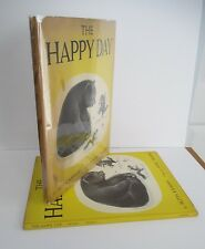 THE HAPPY DAY by Ruth Krauss with Marc Simont Illus., 1949 in DJ, Harper & Bros.