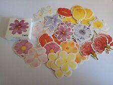 1 box 45 PCS flowers stationery Paper  envelope Scrapbooking diary sticker