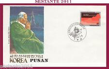 W270 VATICANO FDC ROMA VISITA PAPA GIOVANNI PAOLO II KOREA PUSAN 1984