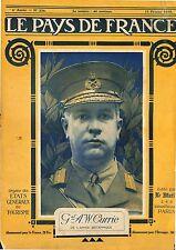 Portrait General Sir Arthur William Currie British Army England UK 1919 WWI