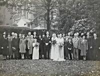 Vintage Photograph Wedding Marriage Bride Groom Guests Social History