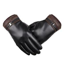 Mens Touch Screen Gloves Winter Cycling Outdoor Sports Driving Leather Gloves