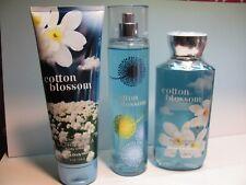 Bath and Body Works X 3 ~ Cotton Blossom ~ Mist, Shower Gel, Body Cream