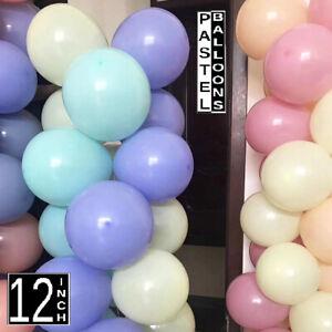 """100 Pieces Unicorn Balloon Garland Arch makes Macaron 12"""" Balloons Pastel Colour"""