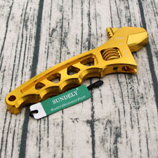 Hi-Q 3AN-12AN Adjustable Aluminum Wrench Fitting Tools Spanner Golden