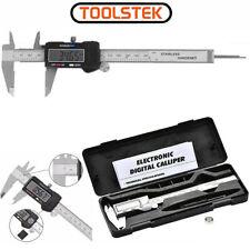 6 in Digital Vernier Caliper 150mm Stainless Steel Micrometer Electronic Tool UK