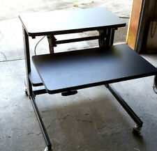 Heavy Duty Afc Dual Tier Sit/Stand Mobile Computer Work Station/Desk-New! Crated