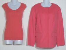 NWT DONCASTER  Women's Coral Jacket & Sleeveless Sweater 18W 2W  2X Plus Size