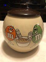 M&M's Ceramic Cookie Jar by Mars Inc 1982