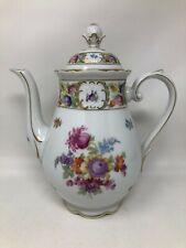 """Schumann Bavaria Empress Dresden Flowers Large Coffee Pot 10 1/4"""""""