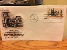 """PAMPHLETEER, AMERICAN REVOLUTION """"ArtCraft"""" 1973 First Day Cover"""
