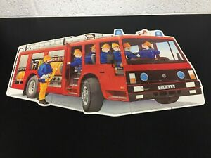 Vintage Early Learning Center Big Fire Engine Floor Puzzle Boxed - 15 Pieces