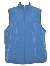 Avenue Womens Puffer Vest Size 22 / 24 Light Blue Quilted Zipper Hand Pockets
