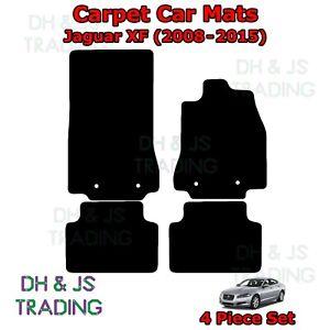 (08-15) Fits Jaguar XF Fully Tailored Carpet Car Mats Black 4pc Floor Set