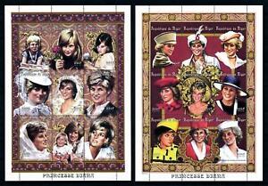 [101362] Niger 1997 Royalty Princess Diana 2 Sheets MNH