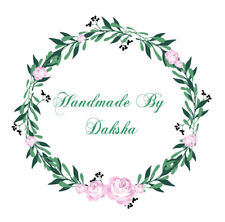24 x 40mm Personalised Stickers Round Labels Floral Handmade Craft 107