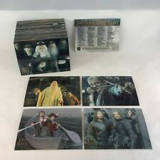 """LORD OF THE RINGS """"TRILOGY"""" (Topps/2004) Complete ALL CHROMIUM Trading Card Set"""
