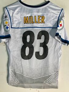Reebok Women's NFL Jersey Pittsburgh Steelers Heath Miller White Super Bowl sz M