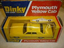 Dinky toys, 278, Plymouth yellow cab. Boxed