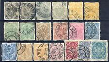 BOSNIA & HERZEGOVINA 1900-01 set fine used