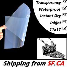 100 Sheets11x17waterproof Inkjet Instant Dry Transparent Film Screen Printing