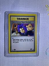 Trainer Here Comes Team Rocket! 71/82 1st Edition NM-M Rare Non-Holo Pokemon