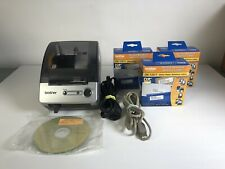 Brother QL-500 Touch Thermal Label Printer w/Power, USB Cable & 3x Labels