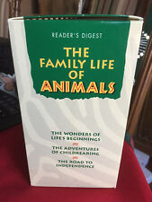 Reader's Digest The Family Life of Animals Educational Videos Boxed Set VHS