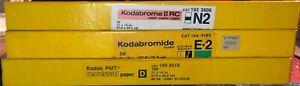 Lot of 3 Boxes of 11 x 14 Vintage Kodak Paper(Kodabrome II, Kodabromide,PMT)