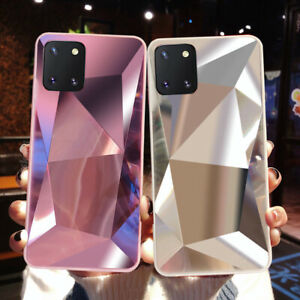 Case For Samsung Galaxy A12 A32 A42 A01 M31 Diamond Glitter Mirror Phone Cover