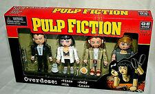 NECA 4 Mini Figure Set Pulp Fiction Overdose New NOS Box 2004 Vince Mia Jody Lan