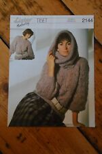 Ladies womens sweater / jumper and hood knitting pattern Lister 2144