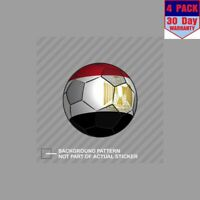 Egypt Soccer Ball Egyptian Flag Football 4 Stickers 4x4 Inch Sticker Decal