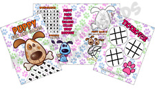 Pack of 12 - Puppy Paws Fun and Games Activity Sheets - Party Bag Books Fillers