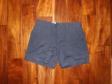 NWT Womens Calvin Klein Midnight Oil Blue Linen Shorts Sz 4
