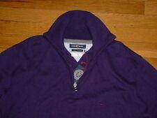 NWT Casa Moda 1/2 Zip Sweater Purple Pima-Cotton Mens Large Logo Sharp!!!