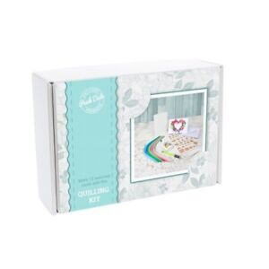 Quilling Kit Boxed QK02 Workboard Paper Card Blanks Glue