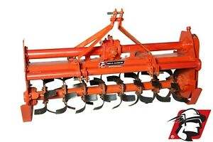 """Rotary Tiller 71"""" Wide Category 1 3-Point Heavy Duty PTO Drive for Kubota"""