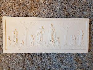 1 Large Frieze Antique Italian Roman Plaster Pictorial Sculpture Wall Plaque