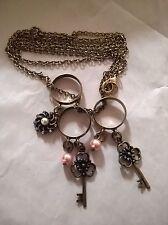 BNWT- Diva Brand, Ladies 3 Ring Charm Necklace